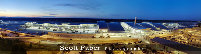Panorama of RDU Terminal 2 By Scott Faber Photography